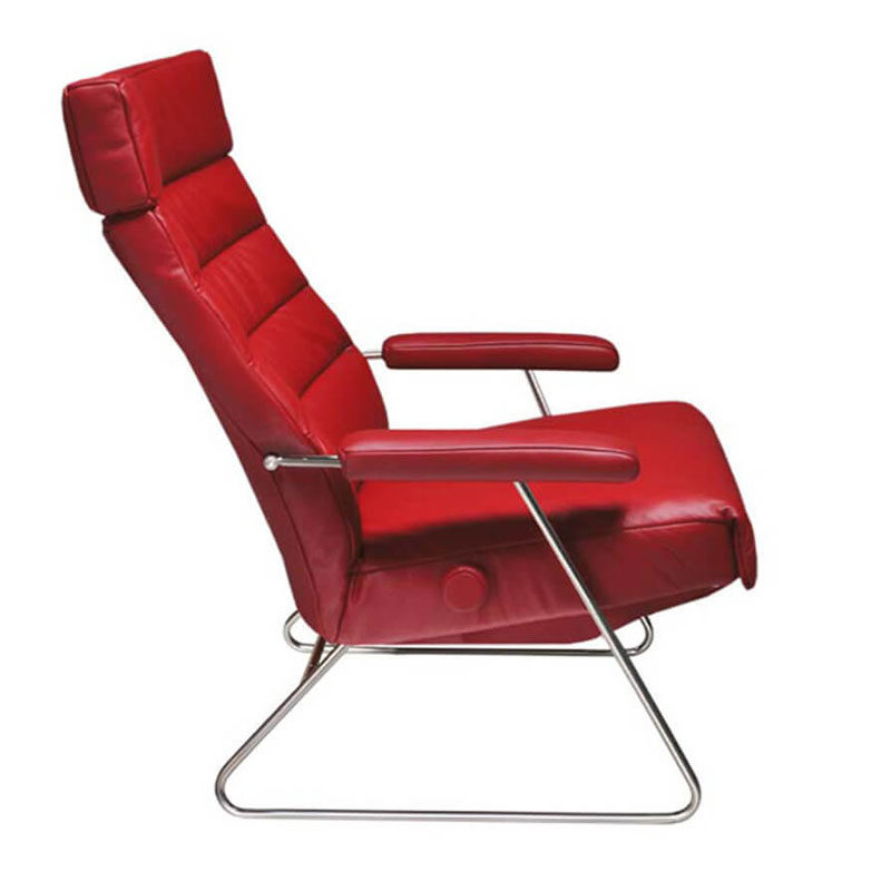 red leather recliner