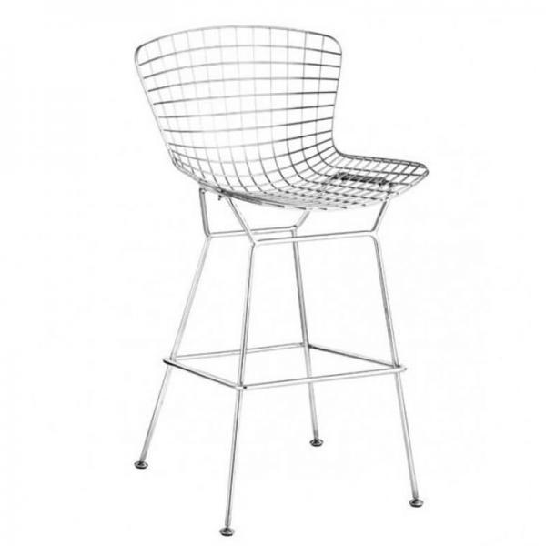 Wire counter chair