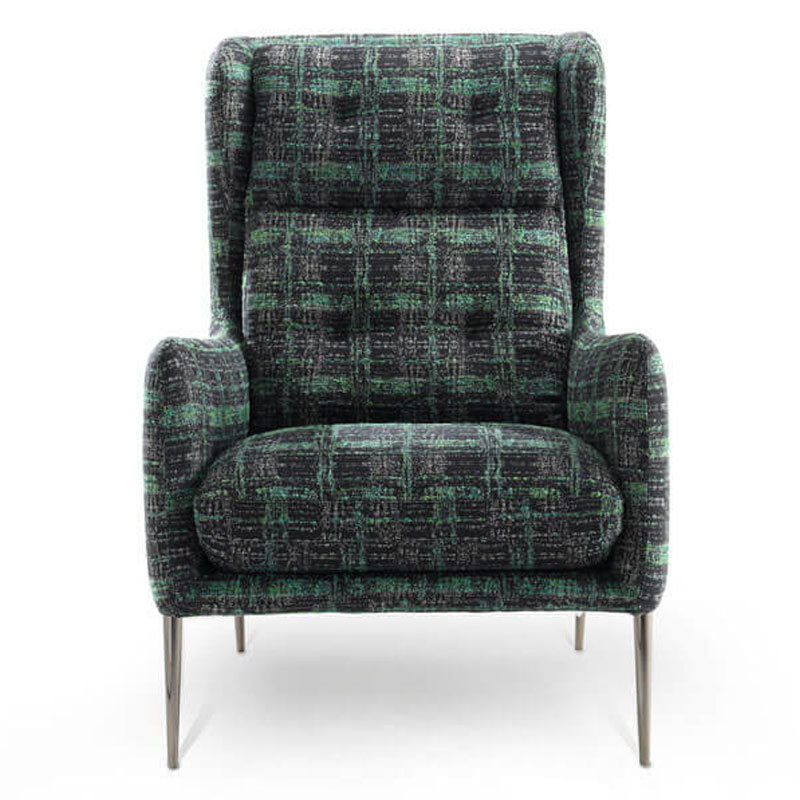 green velvet accent chair