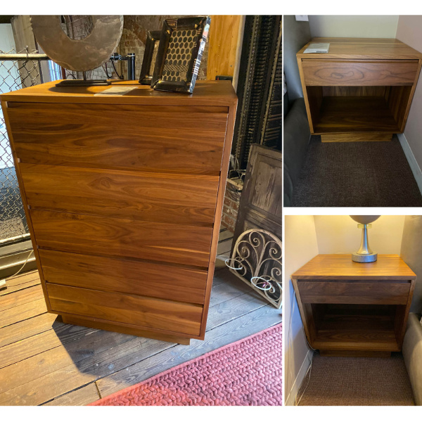 Hand-Made Walnut Bedroom Casegoods