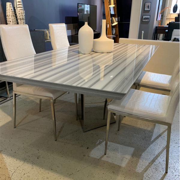 Stone Topped Dining Table