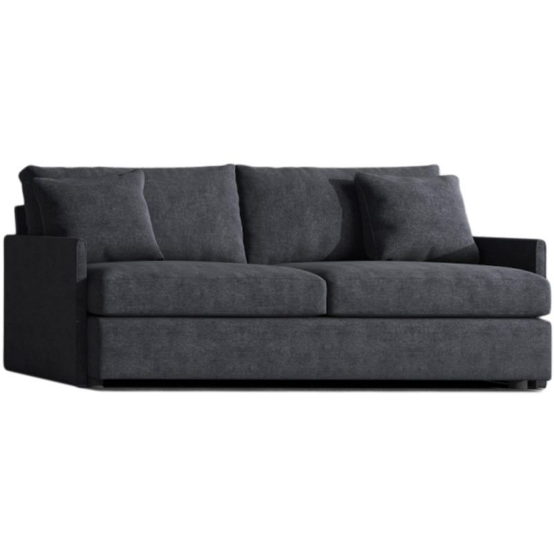 black sofa and sectional