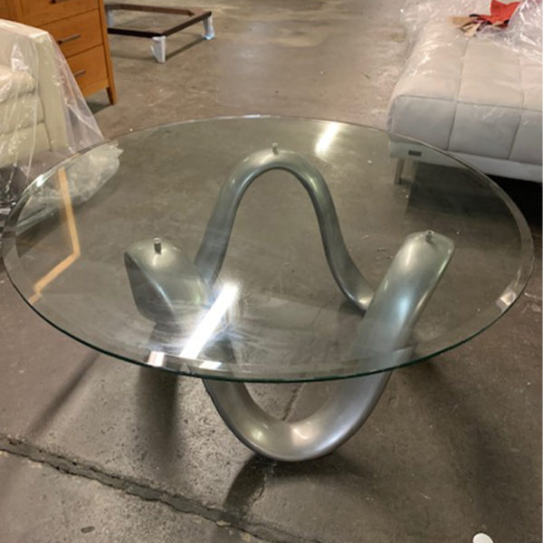 DIA GLASS COCKTAIL TABLE