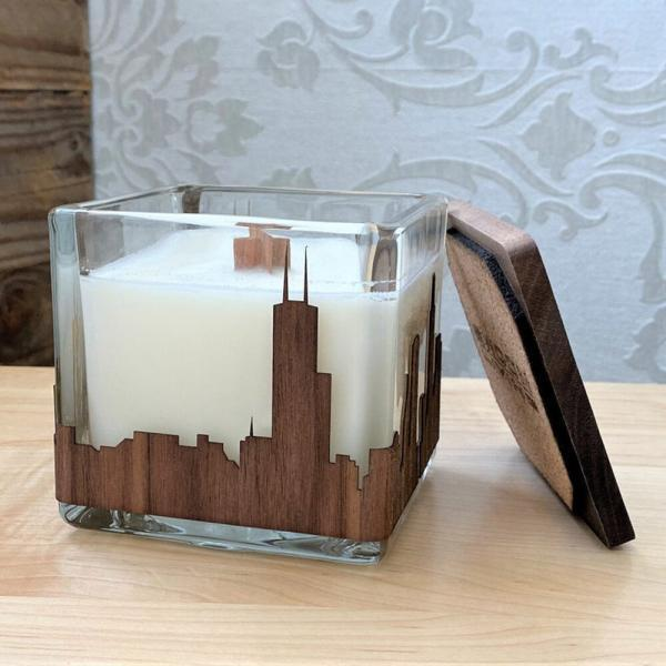 Pittsburgh Skyline Candle Small
