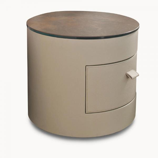cylindrical nightstand
