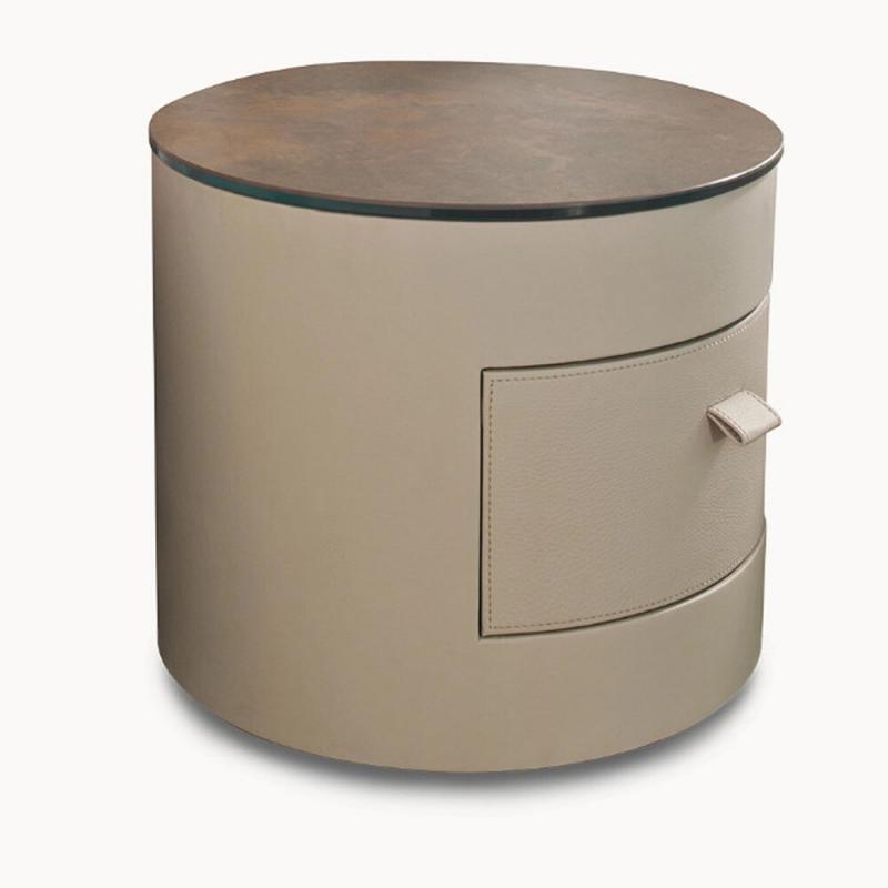 cylindrical nightstand