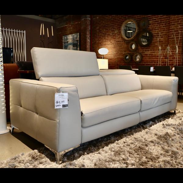 white reclining sofa