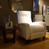 white reclining chair