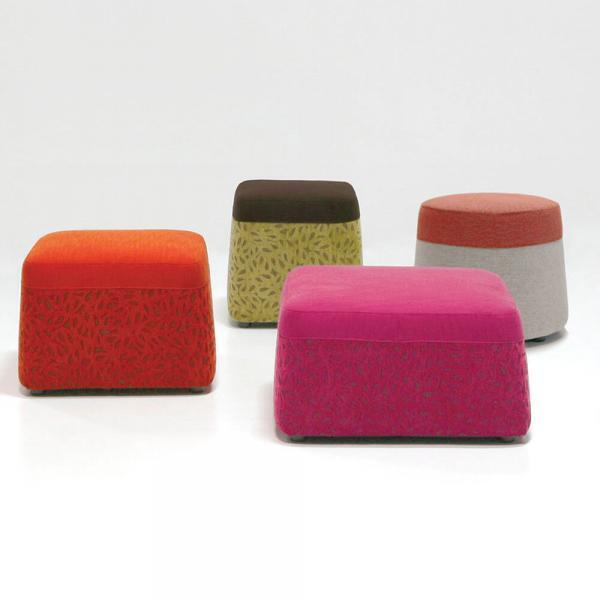 colorful ottoman