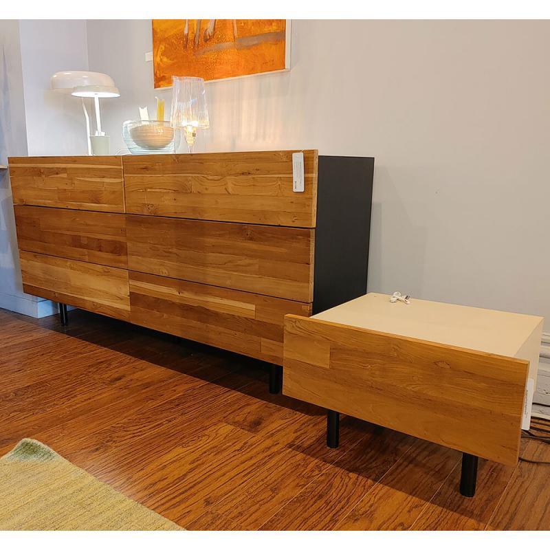 Reclaimed teak nightstand