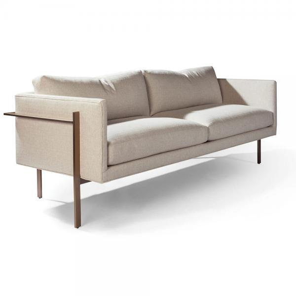 sofa with metal frame