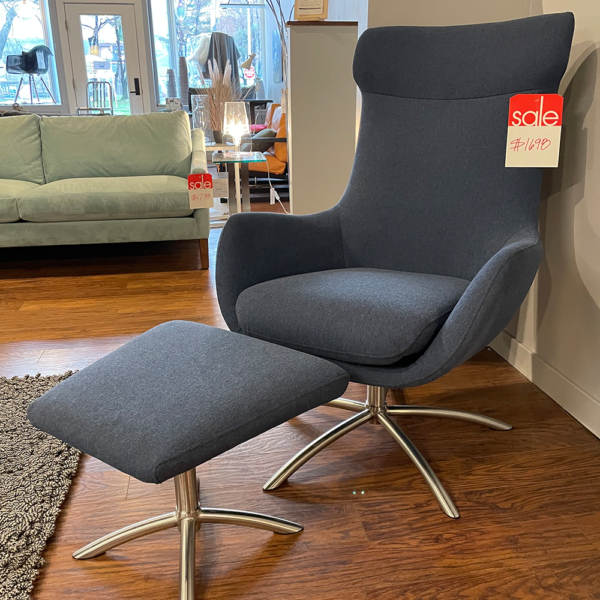 Norwegian Chair And Ottoman
