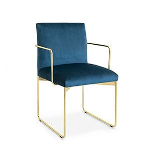 metal frame dining chair