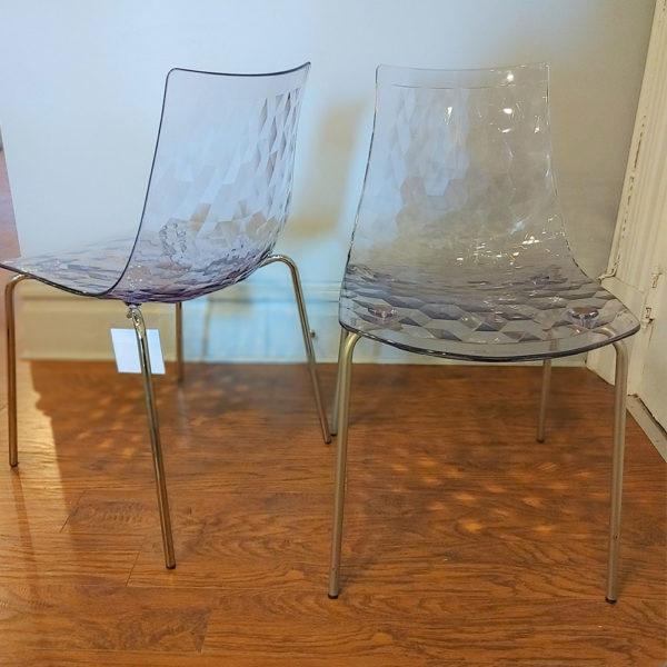 transparent dining chair