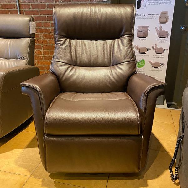 Power Lumbar Leather Recliner
