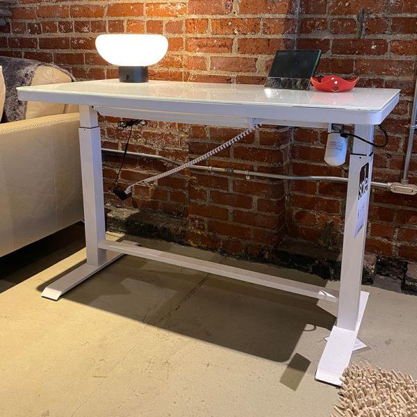 White Lift Desk
